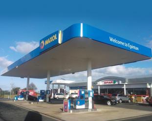 petrol station signs
