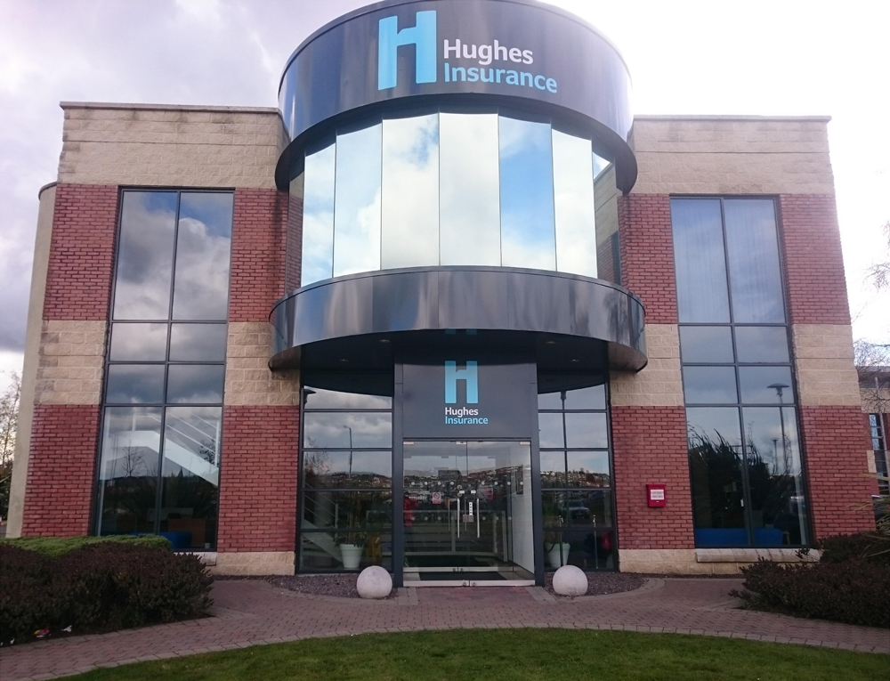 Hughes Insurance Commerical Building Signage